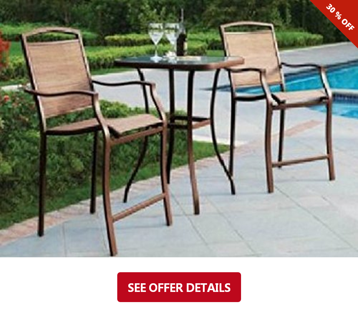 86 premium outdoor bistro sets patio furniture set table 3 piece bar height seating lawn and garden