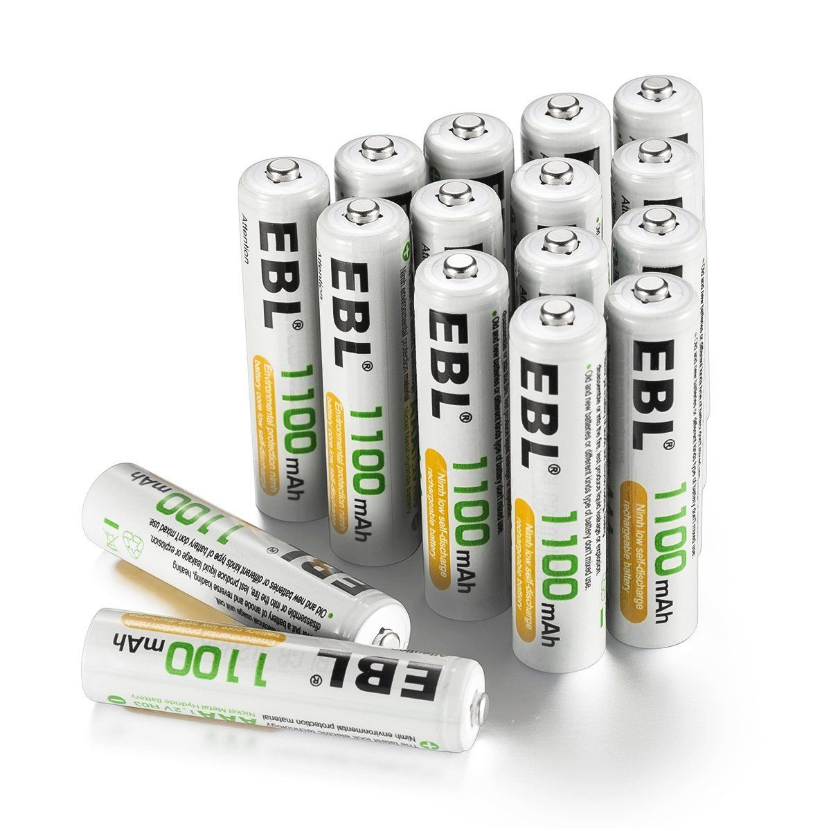 Ebl Rechargeable Aaa Batteries 16 Counts High Capacity 1100mah Ni Mh Check Out This Great Product Aaa Batteries Batteries
