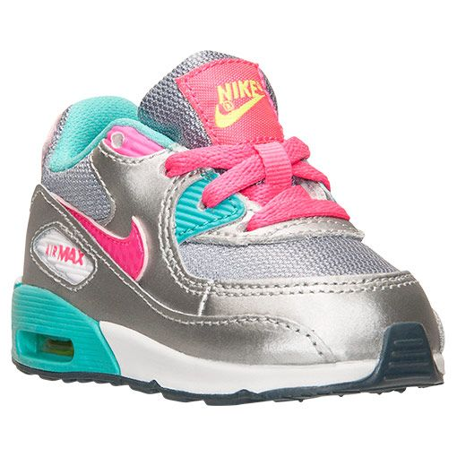Girls' Toddler Nike Air Max 90 Running Shoes | Finish Line | Magnet Grey/