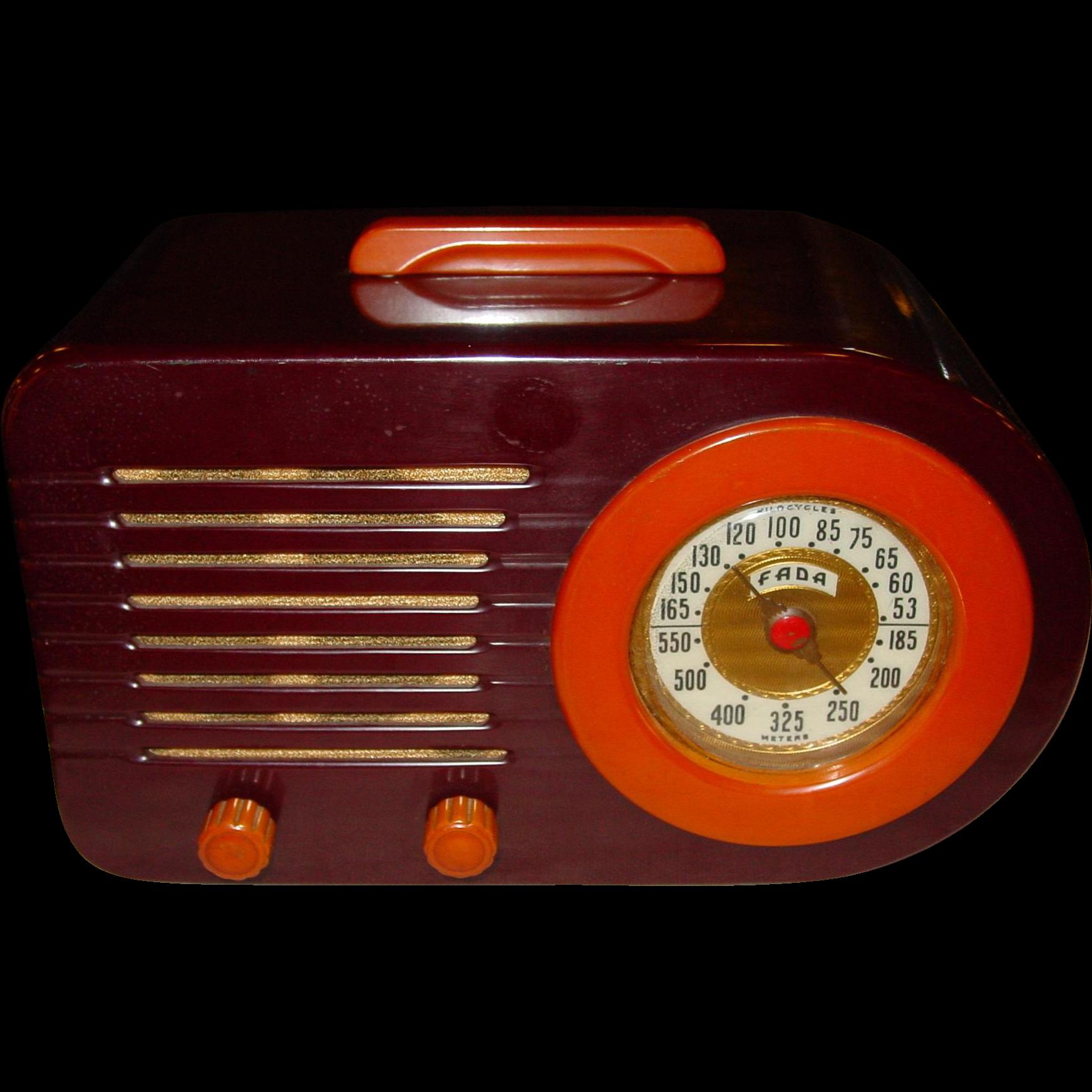 Collectable FADA Catalin bullet style 1940s radio