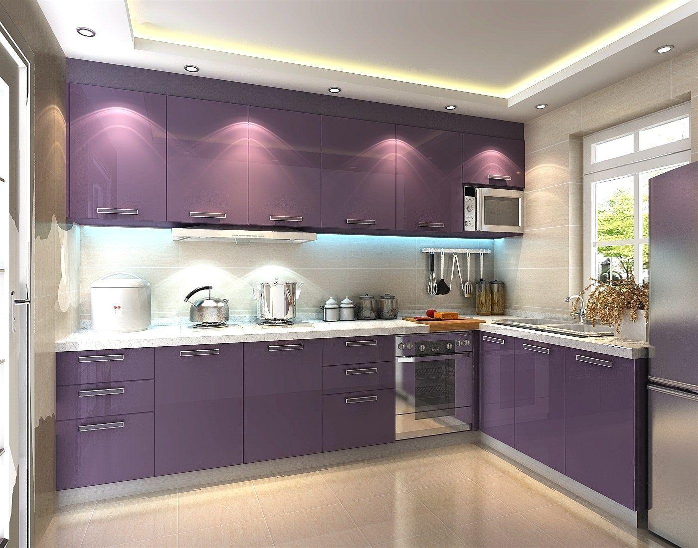 Charismatic Purple Kitchen Ideas Purple Kitchen Walls Kitchen Wall Design Purple Kitchen Cabinets