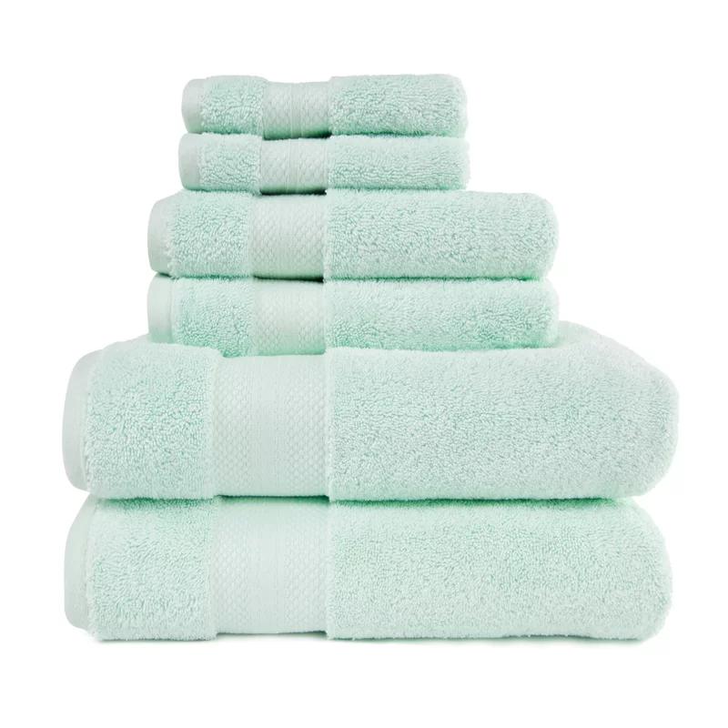 Patric 6 Piece Turkish Cotton Bath Towel Set In 2020 Turkish