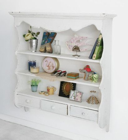 Kino Vintage White Wall Shelf