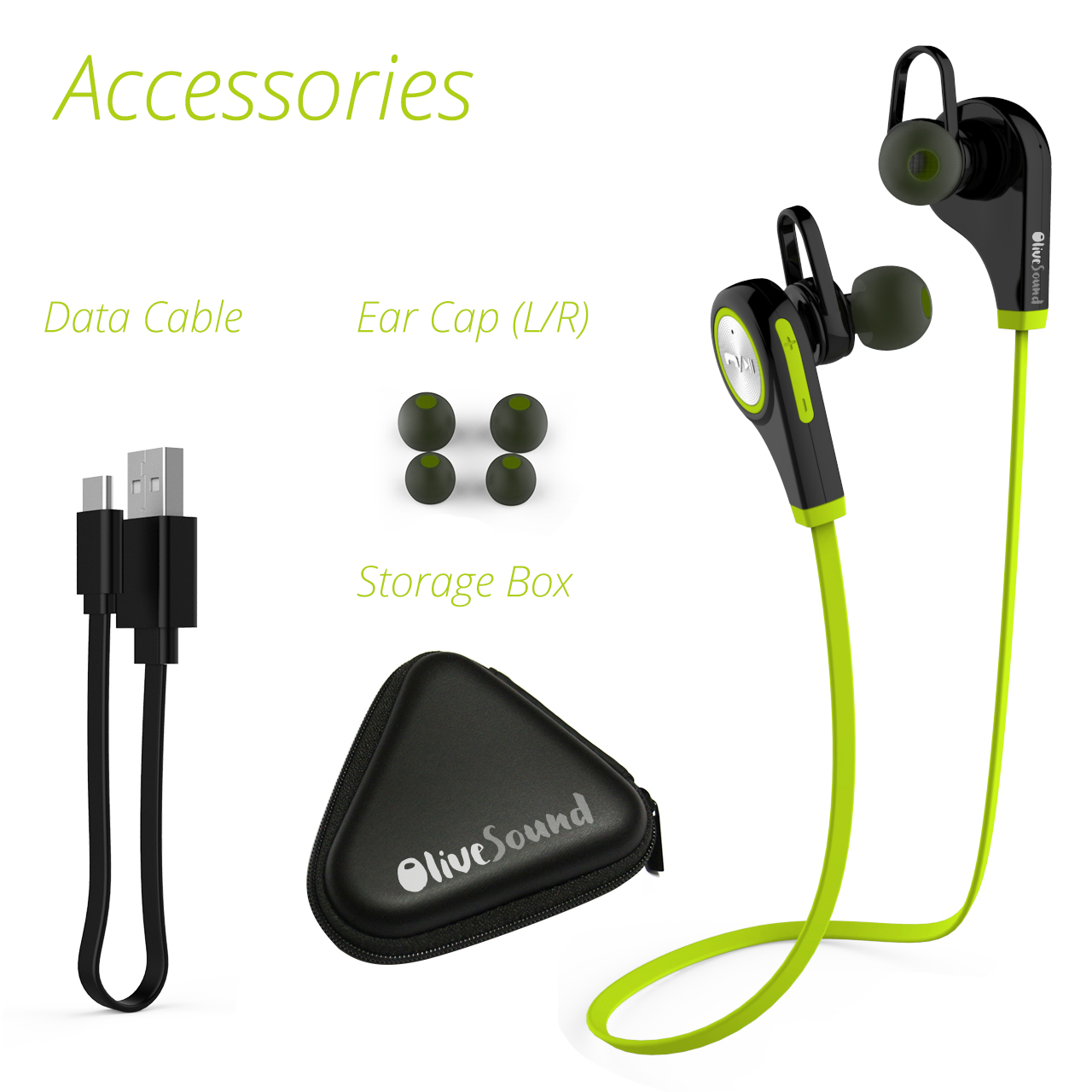 Great Olivesound Brand Bluetooth Earbuds For Phones Wireless Headphones Ear Cap Bluetooth
