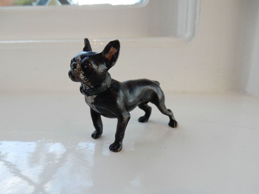 Vienna Cold Painted Bronze In Shape Of French Bull Dog Geschutzt