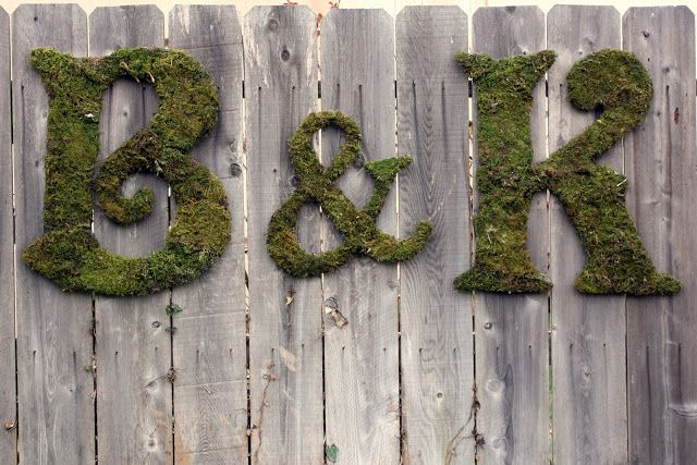 Moss Covered Letters Moss Covered Letters  Decor  Pinterest  Moss Covered Letters