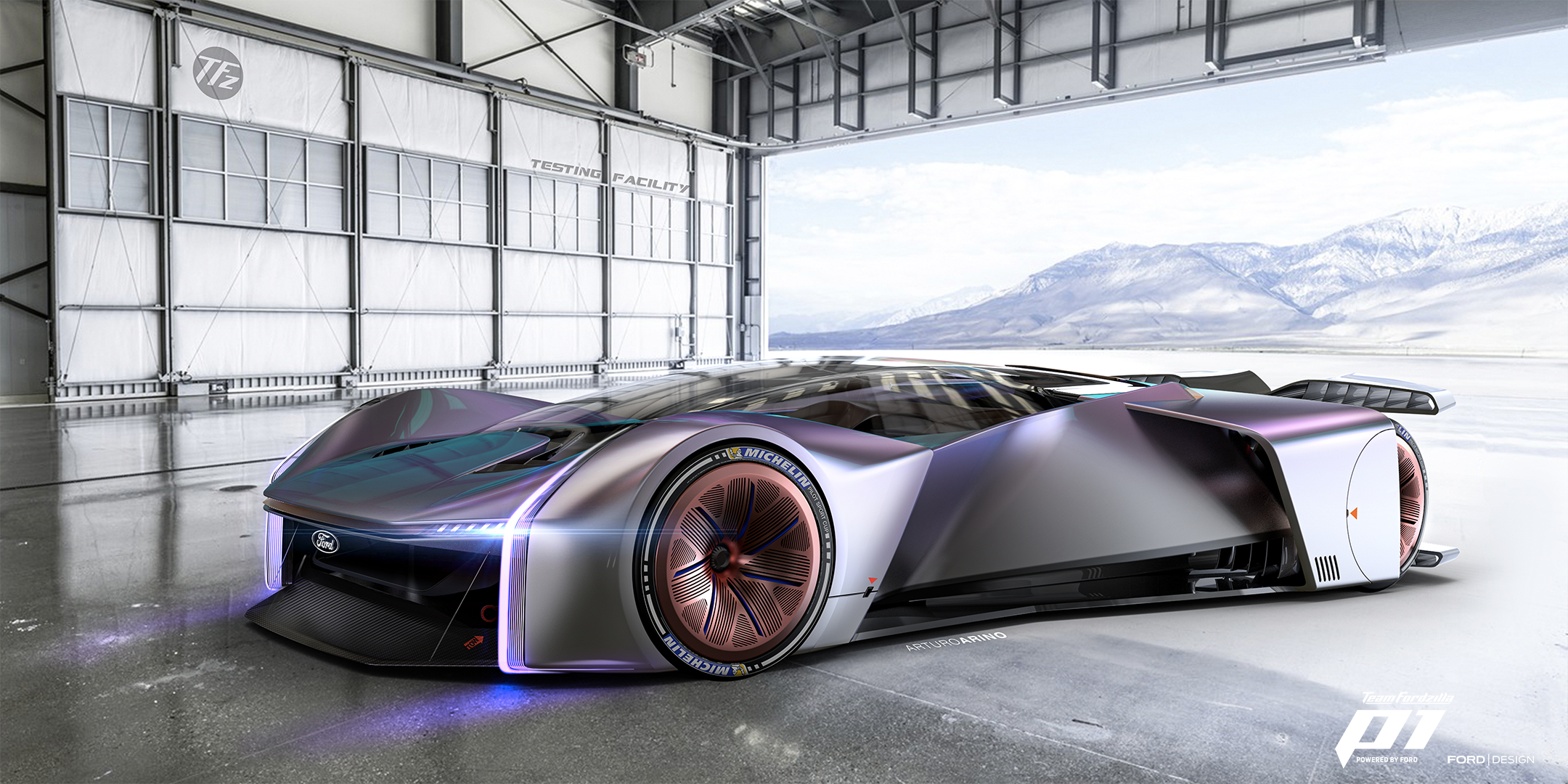 This Gamer Designed Ford Race Car Is Clearly The Future Of Racing In 2020 Race Cars Virtual Race Super Cars