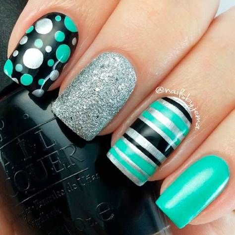 Beautiful Aqua Nails Designs Youll Want To Try Uas Pinterest