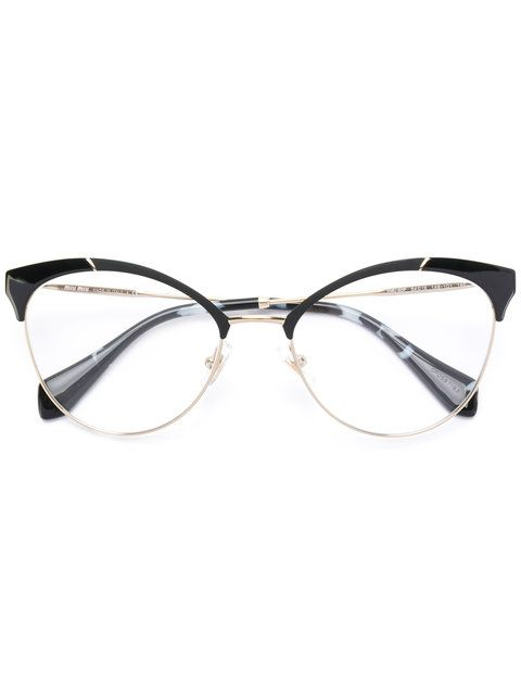 Photo of Miu Miu Eyewear Half Frame Cateye Glasses – Farfetch