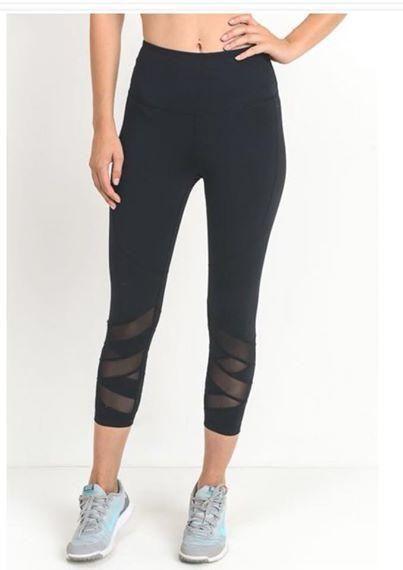 Black Royal Workout Leggings #FitnessWear