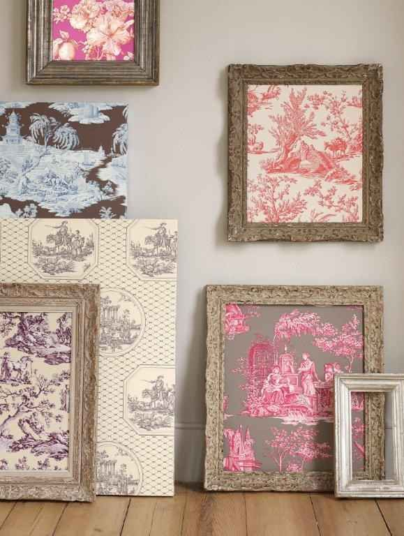 Hang Wallpaper Samples Or Pieces Of Fabric Wallpaper Crafts Wallpaper Samples Toile Fabric