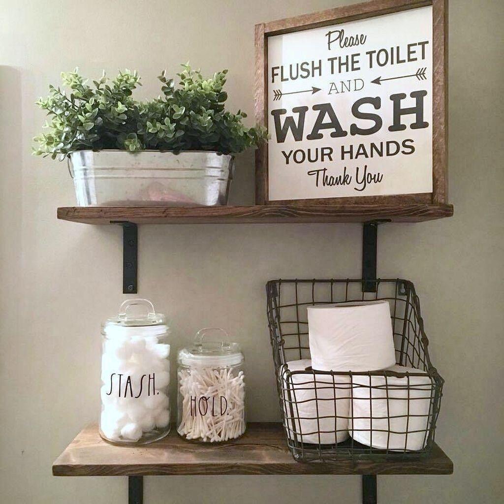 20+ Wonderful Farmhouse Bathroom Decor Ideas images