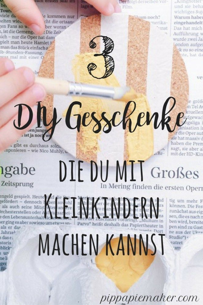 diy geschenke die man mit kleinkindern machen kann kreativ mit kindern basteln und malen. Black Bedroom Furniture Sets. Home Design Ideas