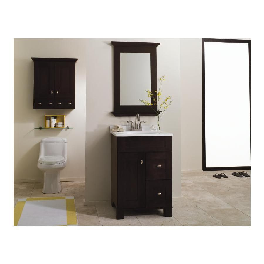 Shop Allen Roth Palencia 24 In X W 21 In D Espresso Contemporary Bathroom Vanity At