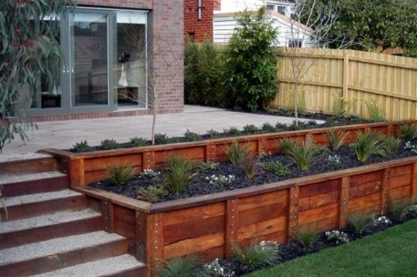 Original And Cost Effective Diy Retaining Ideas For Creative Landscaping Backyard Patio Backyard Backyard Landscaping