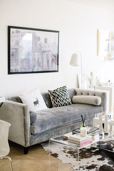 Samt Sofa Wunderschöne Wohnzimmer Ideen und Inspirationen