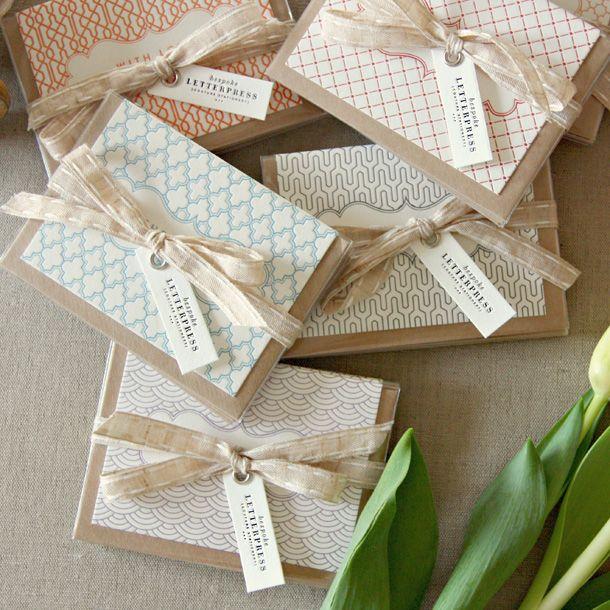 Bespoke Letterpress Mini Gift Cards