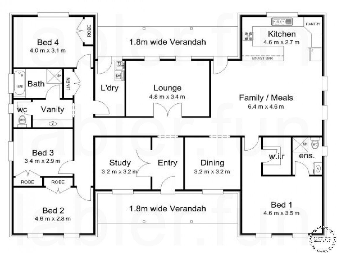 4 Bedroom Floor Plans With 3 Car Garage Australian House Plans House Plans Australia Split Level House Plans