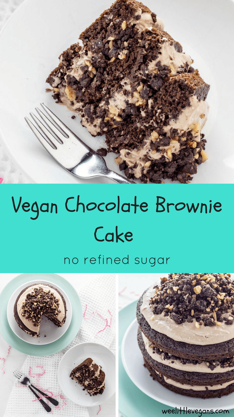Vegan Chocolate Brownie Cake | Rezept | Vegan backen, Veganer und ...