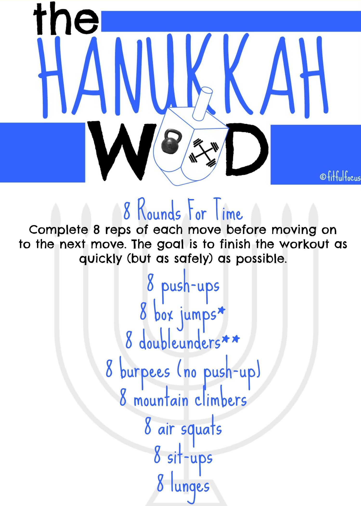 The 8 Days Of Hanukkah Workout You Definitely Need In Your Life