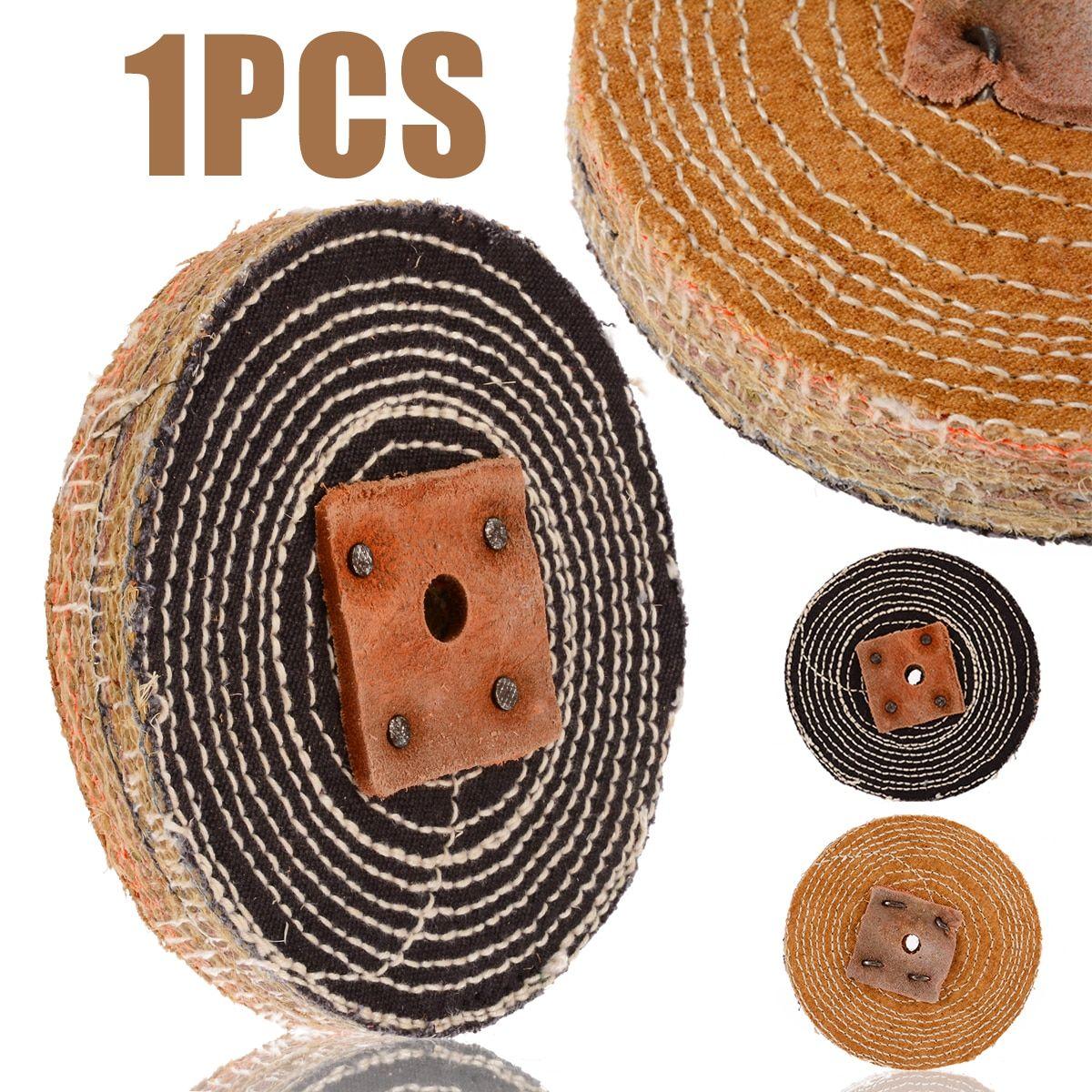 6 Inch 10 Pcs Sisal Cloth Buffing Wheel For Stainless Steel Metal Polishing Tool