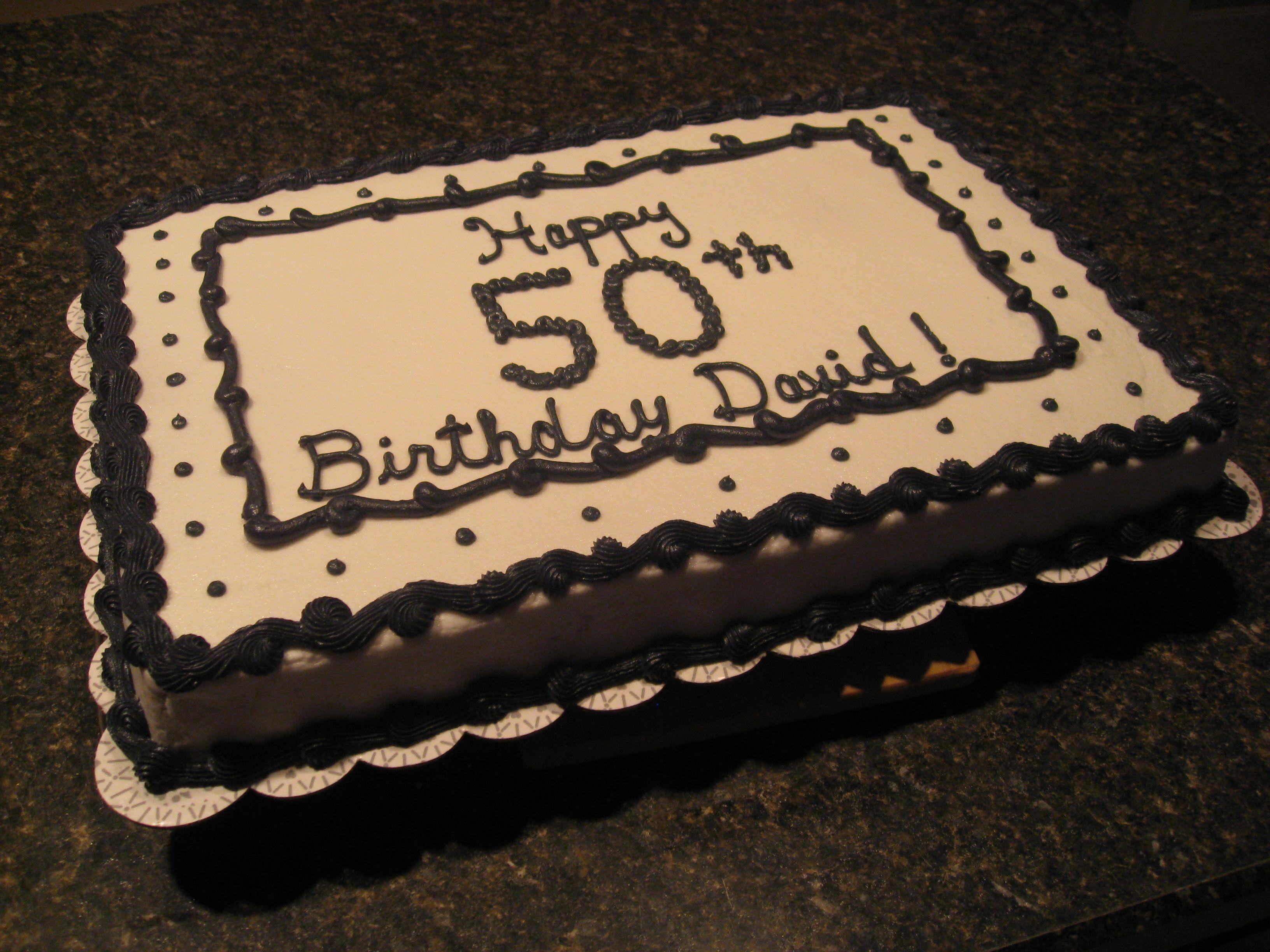 50th Birthday Cake 50th Birthday Cake Birthday Sheet Cakes