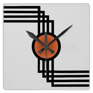 Art Deco Wall Clocks | Zazzle