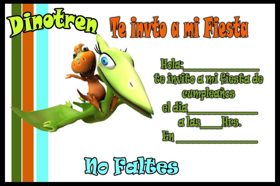 Invitaciones De Cumpleaños De Dinosaurios Para Descargar Al