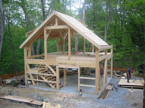 Image Detail For Eloquently Describe This Post And Beam Barn Frame As The Type That S Barn House Tiny House Cabin Post And Beam Barn