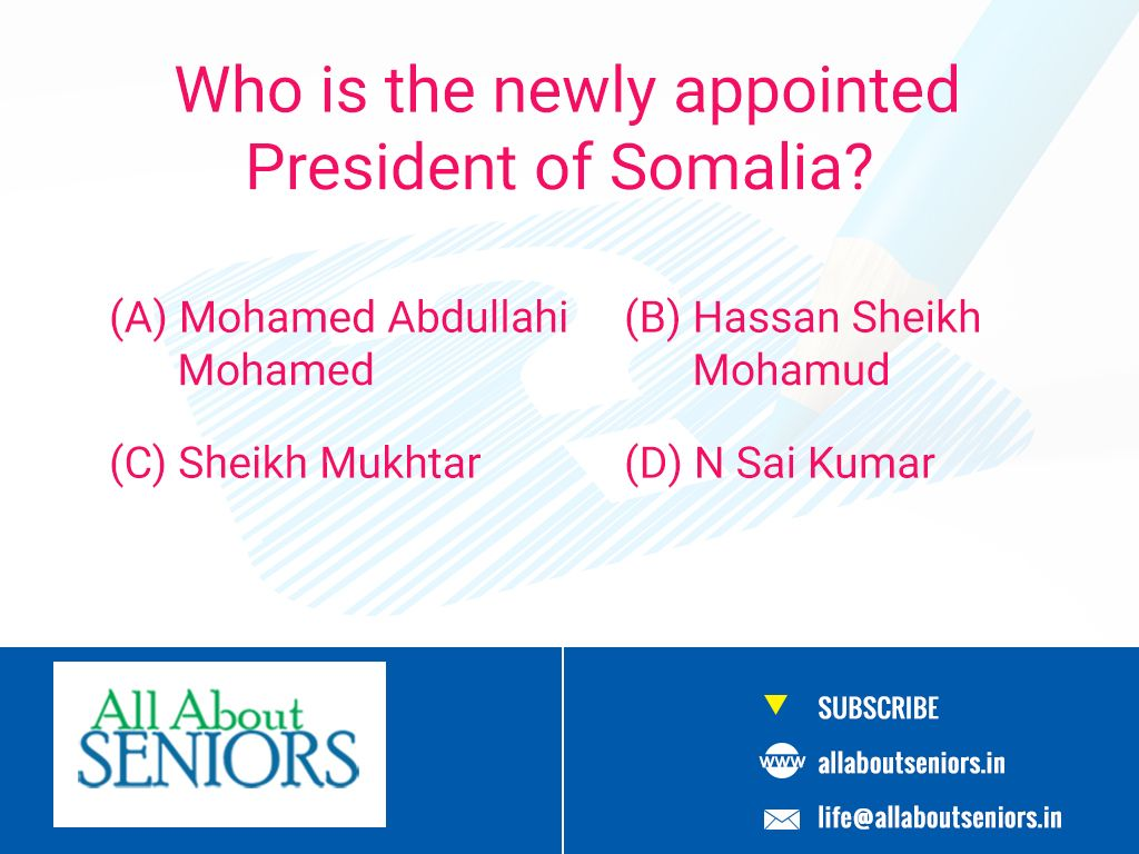 #ThrowbackThursday  Who is the newly appointed President of Somalia?  #brainexercise #brainteaser #Historyquestion #TryAndBeat #QuizTime #AllAboutSeniors