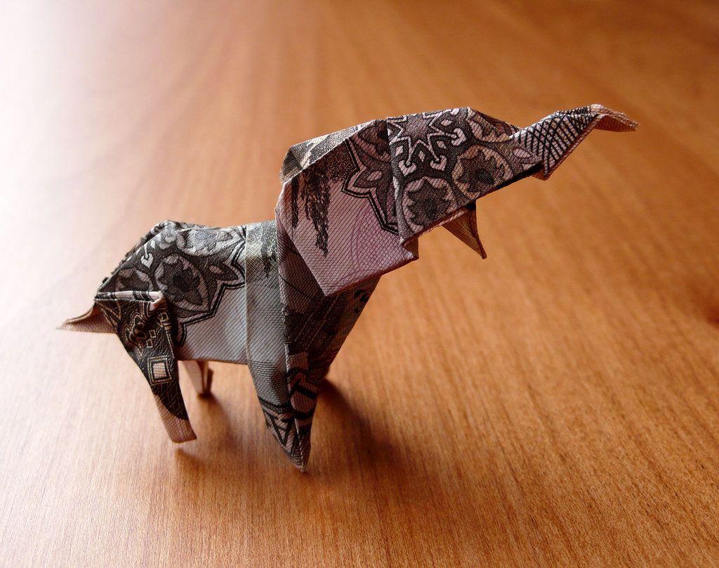 How To Fold A Dollar Bill Elephant - DIY Crafts Tutorial ...   808x1024