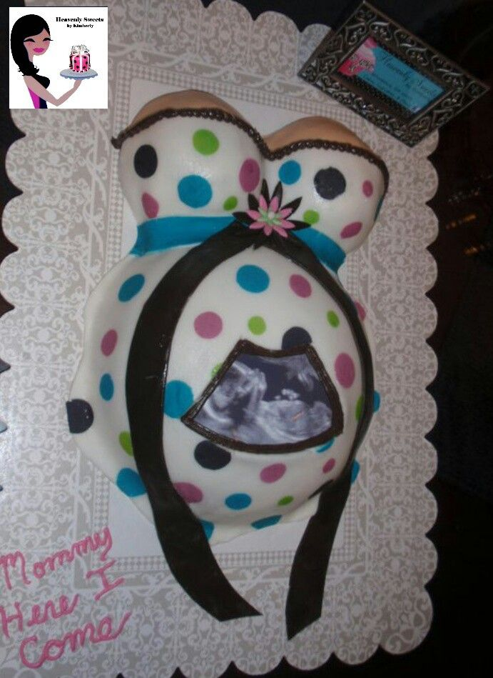Ultrasound Belly Cake Baby Shower Pinterest Belly Cakes Baby