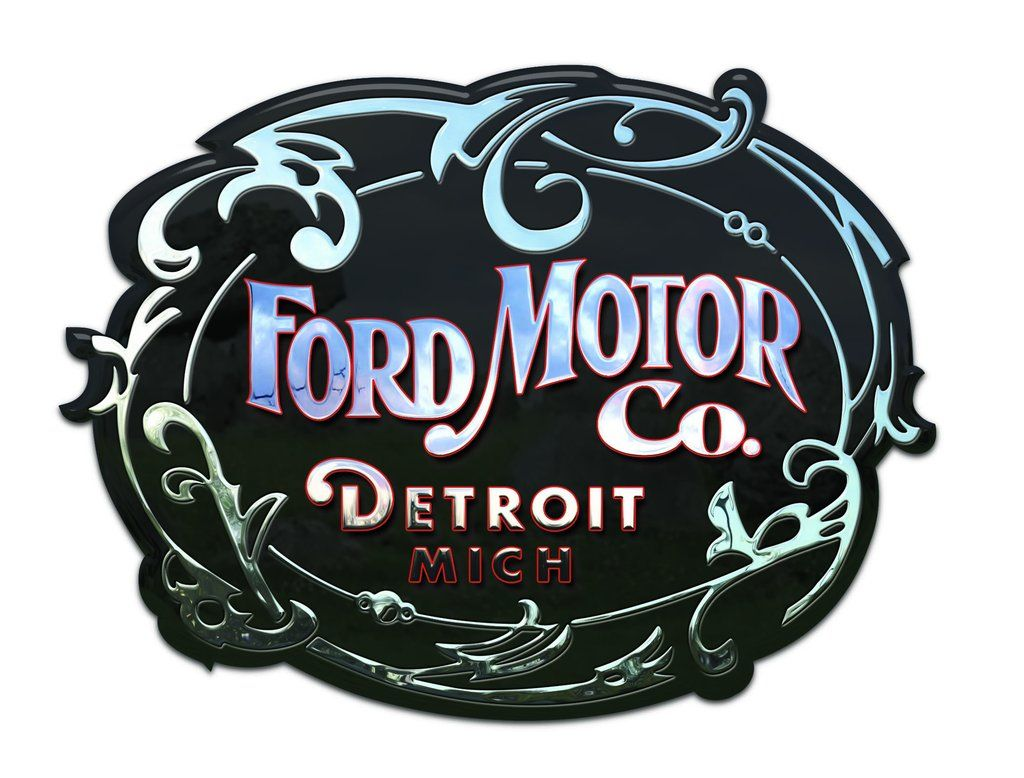 Seconds Vintage Ford Motor Company Logo Vinyl Sticker 6 Racing