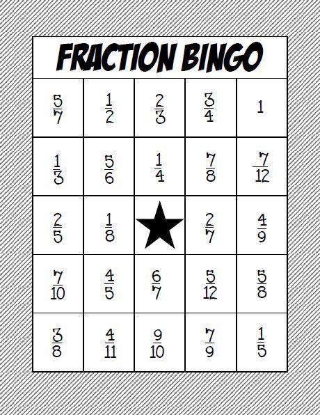 fraction bingo class set adding and subtracting fractions common denominator math activities. Black Bedroom Furniture Sets. Home Design Ideas