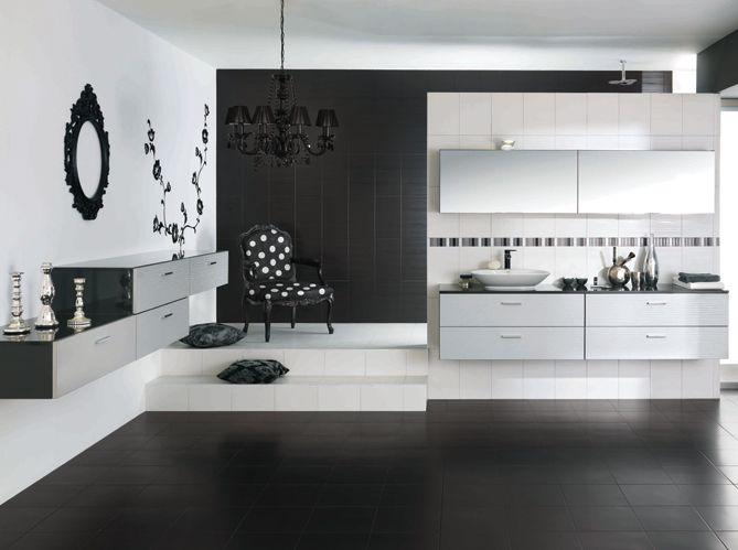 Salle de bain noir et blanc cuisines schmidt Sdb Pinterest