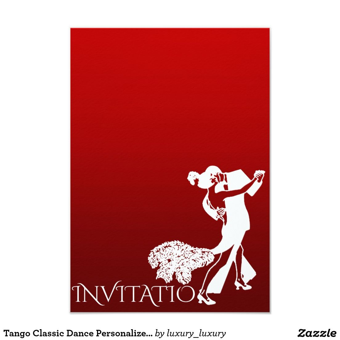 Tango Classic Dance Personalized Red Wine Field Card | Pinterest