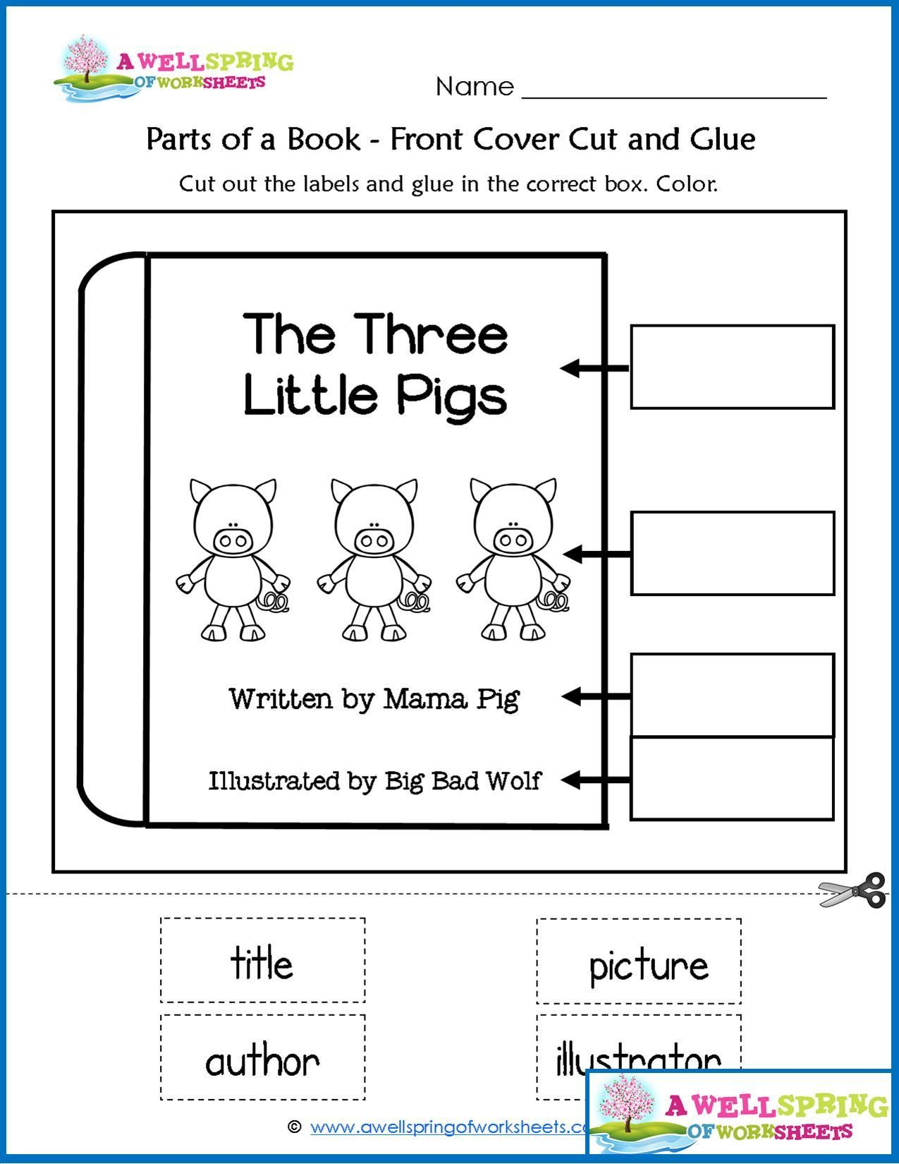 Parts Of A Book Worksheets Vocabulary Cards Check Out This Set Kindergarten Like One Page About The Front Cover