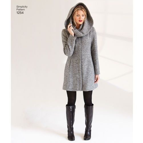 Misses/' Leanne Marshall Easy Lined Coat or Jacket Simplicity Sewing Pattern 1254