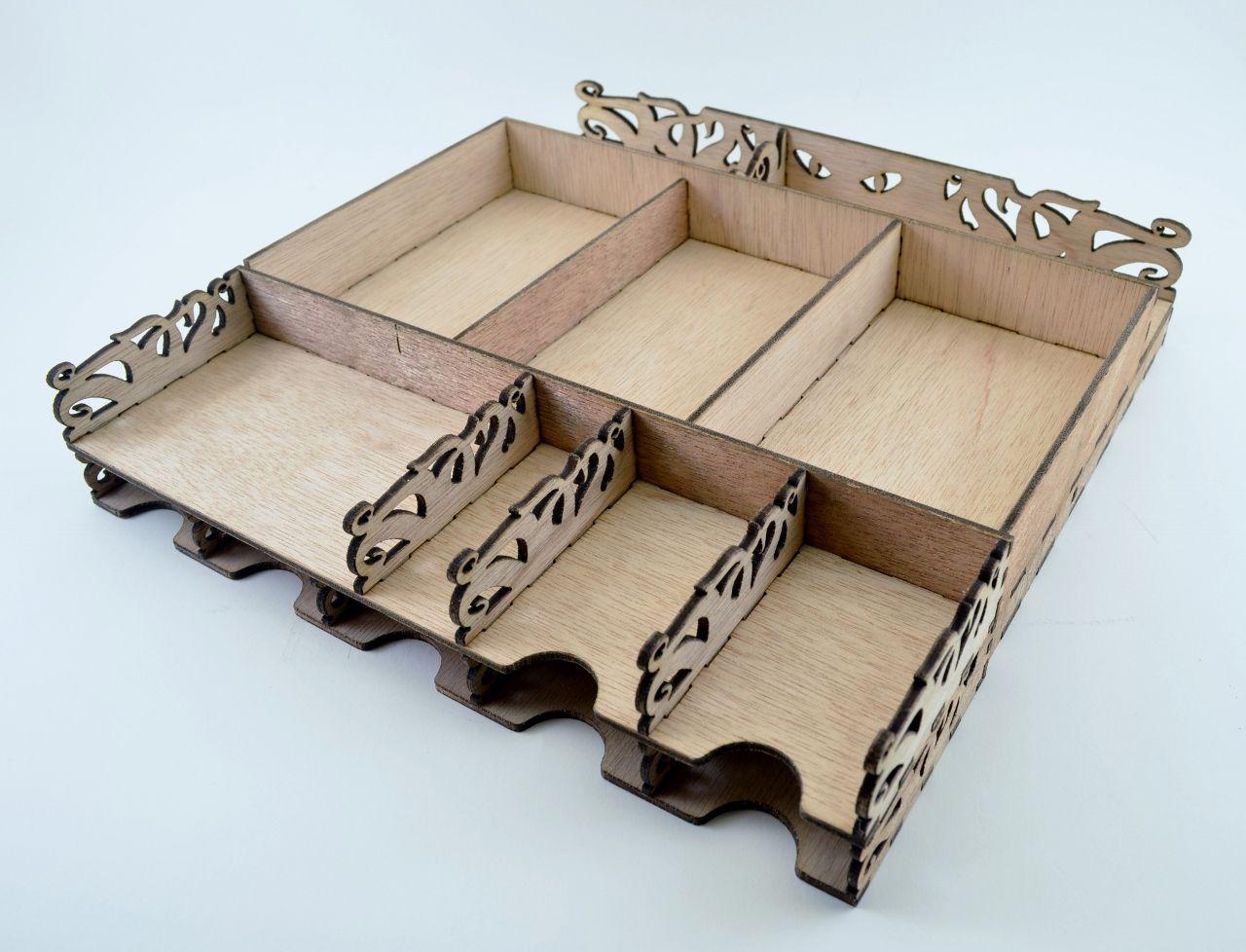 Custom Elder Sign Board Game Insert | ThinkerTinkerMaker ... for Laser Cut Cardboard Box  66plt