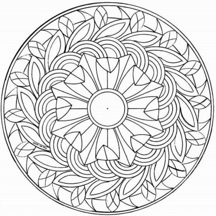 Coloring: Coloring Pages For Middle Schoolers Free Printable Mandala Coloring  Pages, Coloring Pages For Teenagers, Coloring Pages