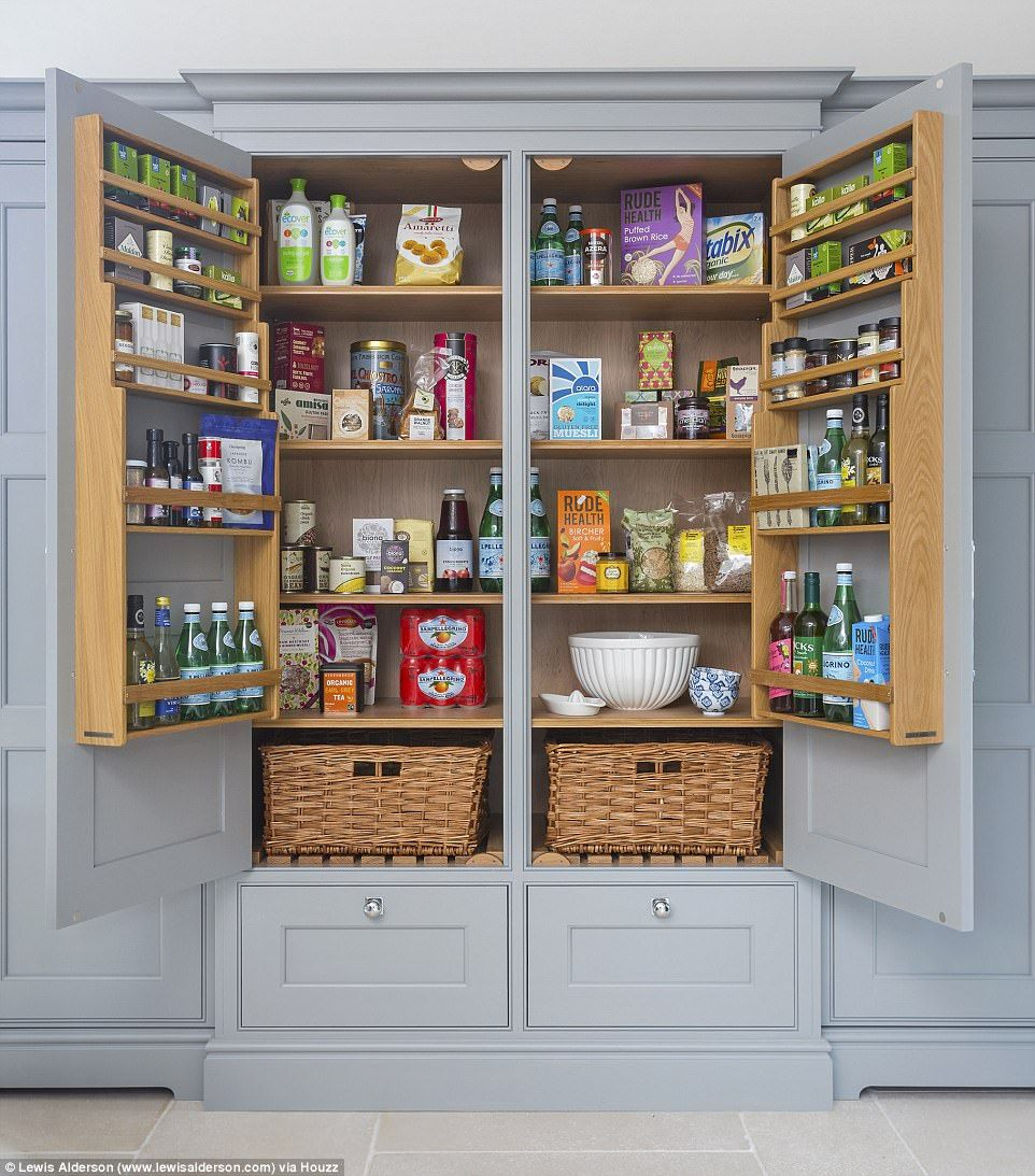 Houzz UK reports a huge rise in 'pantry porn' | Daily Mail Online