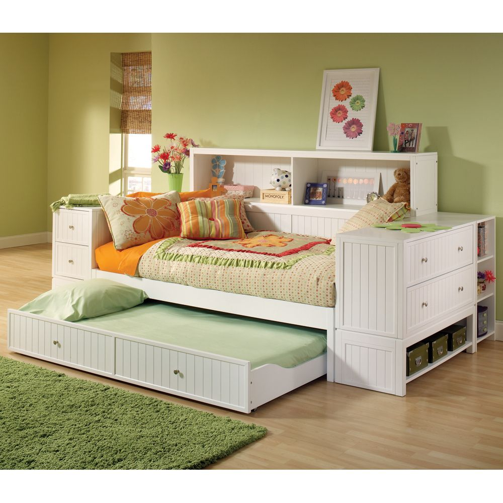 trundle bed with storage daybed with trundle amp storage hillsdale furniture 17580