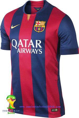 Del Fc Con 2014 15 Camiseta Viene El Rayas Barcelona 1ª Nueva Menos kuPZOiXT