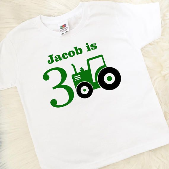 Personalised Birthday T Shirt Tractor 1st 2nd 3rd