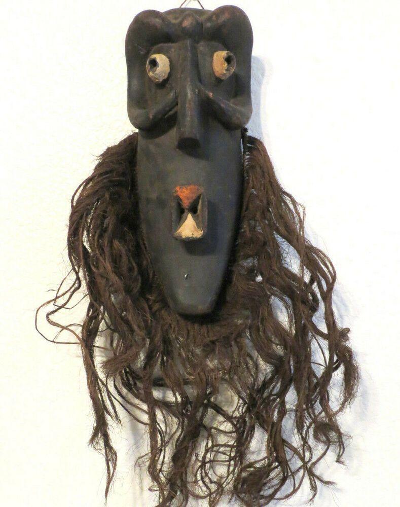 African Male Kifwebe Songye Mask Congo Tribal Wood Carving