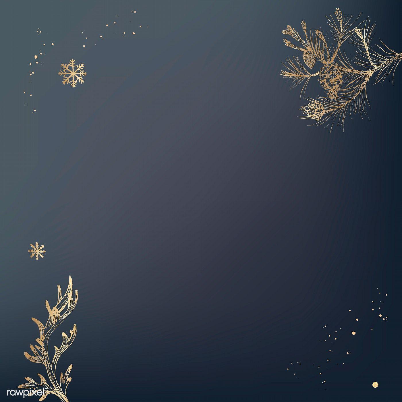 Download Premium Vector Of Bronze Botanical Pattern Social Background Botanical Pattern Vector Background Pattern Christmas Background Vector