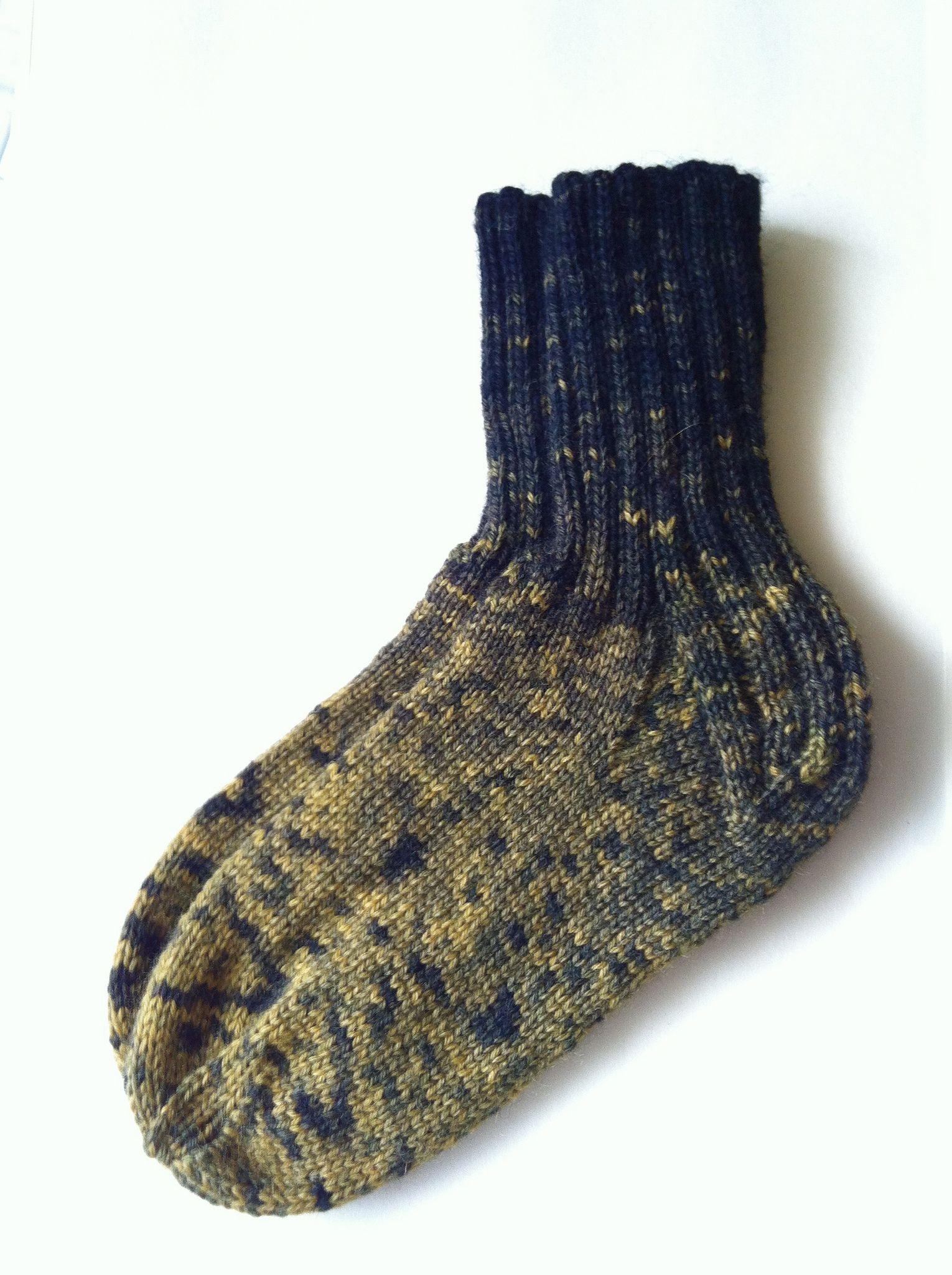 https://flic.kr/p/fmu7Kw | Hand Dyed Wool Socks