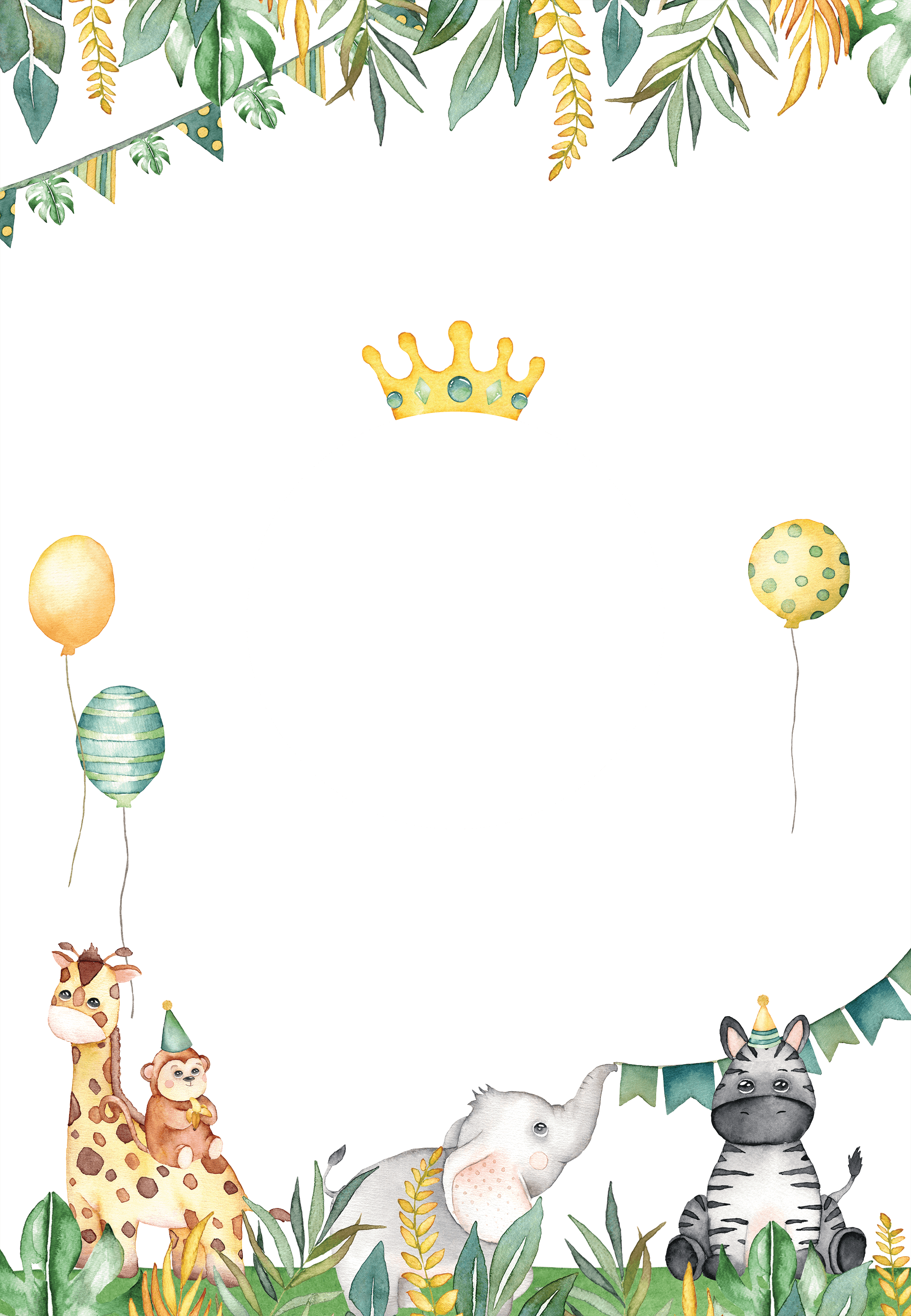 Safari Animal - Birthday Invitation Template (Free)  Greetings