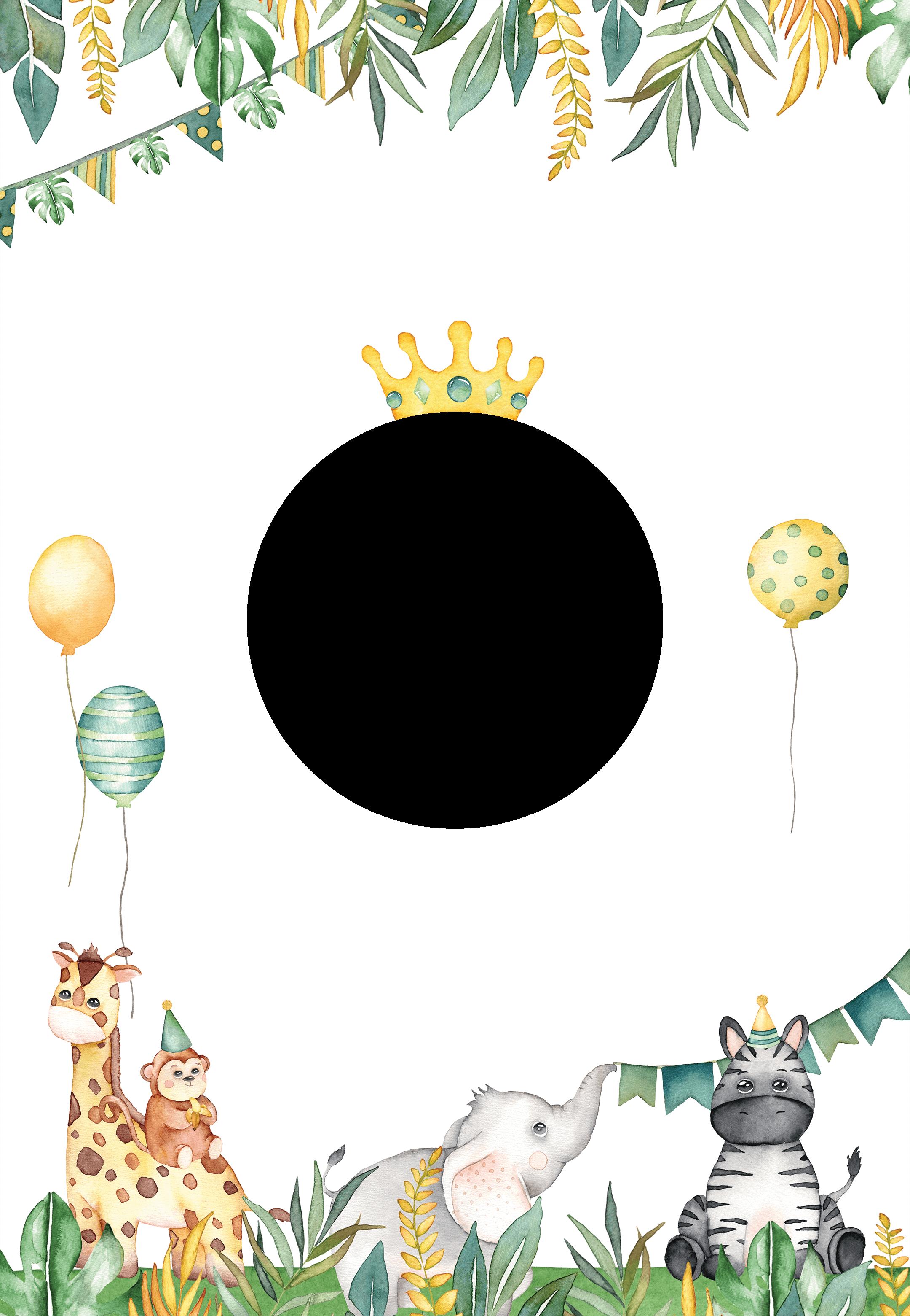 safari animal birthday invitation