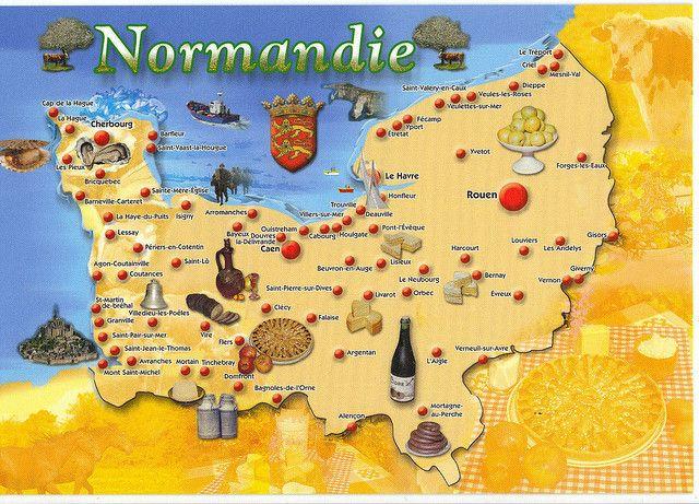 Map 6 N111 Map Normandie Normandy Map Normandy Normandy France Map